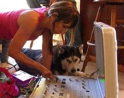 Kiara getting acuscope 2